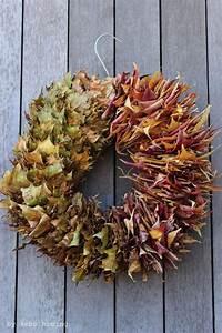 Türkranz Herbst Selber Machen : herbstkranz bunte bl tter und ein metallkleiderb gel ~ Watch28wear.com Haus und Dekorationen