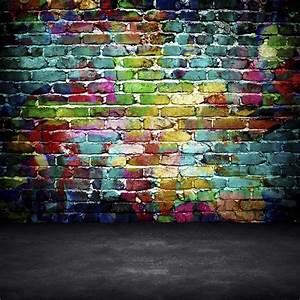 Toile De Mur : tableau sur toile graffiti mur de brique pixers nous vivons pour changer ~ Teatrodelosmanantiales.com Idées de Décoration
