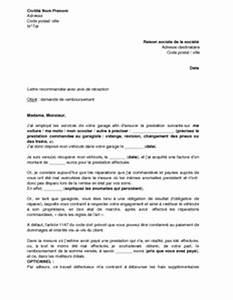 Remboursement Assurance Emprunteur Lettre Type : lettre de demande de remboursement au garagiste pour ~ Gottalentnigeria.com Avis de Voitures