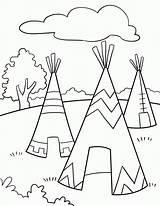 Coloring Pages Native American Designs Printables Sheets Kindergarten Popular sketch template