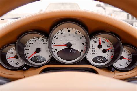 red  black car speedometer  neutral  stock photo