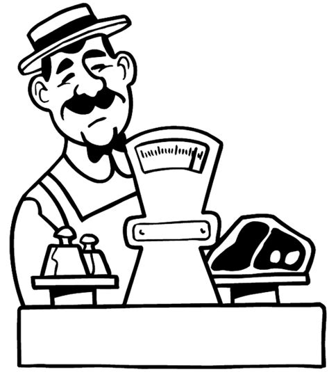 Weighing Boat Drawing by Signspecialist Beevault Decals Butcher Weighing
