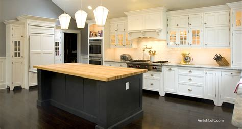 country kitchens with islands amish loft cabinetry amish made custom kitchen cabinets