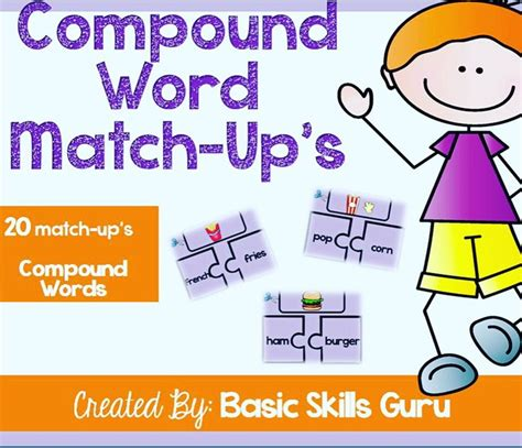 compound words activity match   compound words