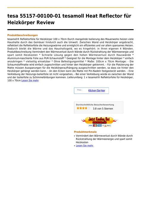 isolierfolie hinter heizkörper tesa 55157 00100 01 tesamoll heat reflector f 195 188 r heizk 195 182 rper by swenes eggers issuu