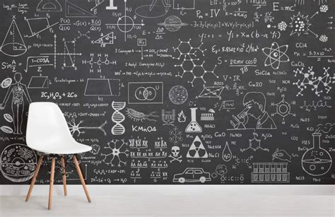 science chalkboard wallpaper mural muralswallpaper