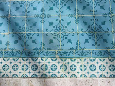 Free Images : pattern, green, tile, blue, material
