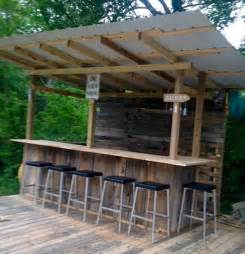 diy wooden pallet outdoor bar collections recycled