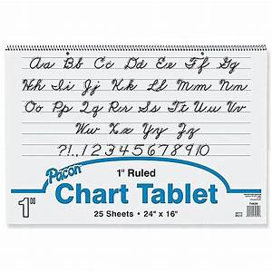 Pacon 16 Quot X 24 Quot Cursive Cover Chart Tablet Ruled White