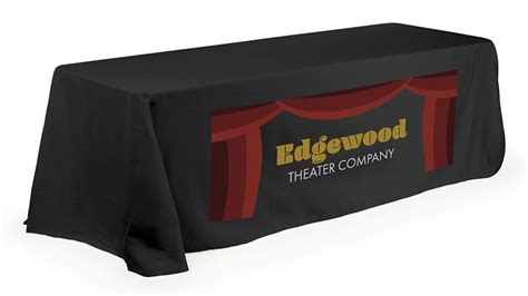 Table Drape With Logo - table cover with logo for booths additional styles colors