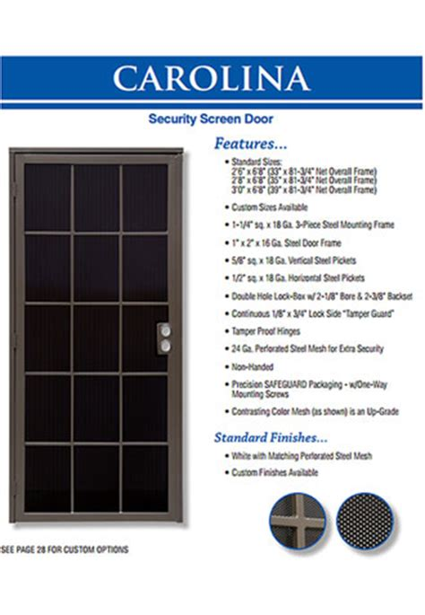 metal security screen doors orange county ca