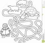Eskimo Igloo Coloring sketch template