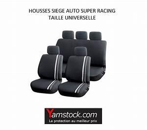 Siege Auto Avec Airbag : housses pour si ges de voiture grise noir super racing compatible airbags ~ Dode.kayakingforconservation.com Idées de Décoration