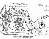 Bear Yogi Coloring Drawing Characters Boo Cartoon Coloringfree Kaynak sketch template