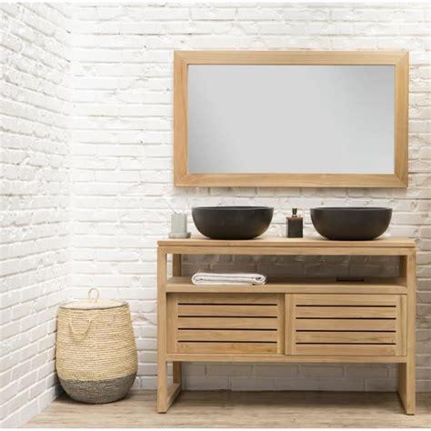 salle de bain en bois oahu ensemble salle de bain en bois teck massif vasque avec miroir l 120 cm bois