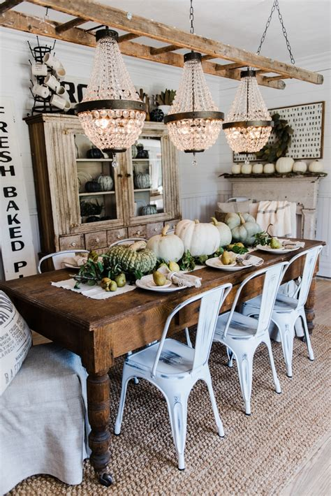 fall formal dining table centerpiece home decor pinterest happy fall rustic pumpkin pear farmhouse table