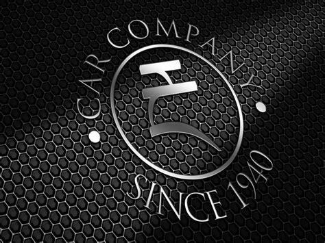 realistic metal logo psd design mockups