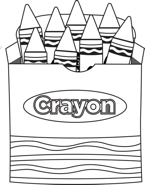 Coloring Crayon by Crayon Box Clip Clipartion