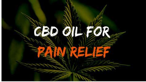 25 Best Cbd Oil For Pain Relief [reviews & Guide 2018]