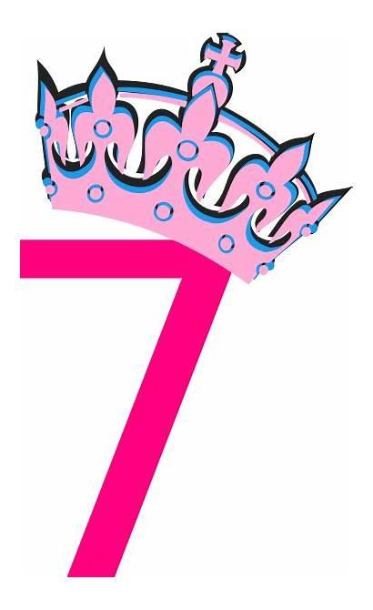 Number Pink Tiara Tilted Clip Clker Clipart