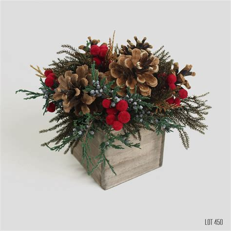 christmas centerpiece holiday decor red  gold