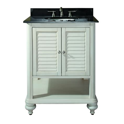 25 inch single sink bathroom vanity with antique white