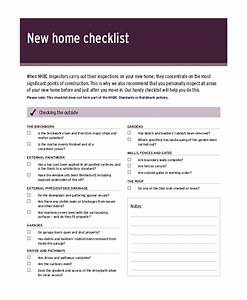 house inspection checklist 12 free pdf word download With new home inspection checklist template