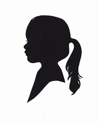Silhouette Clipart Head Silhouettes Profile Ponytail Sad