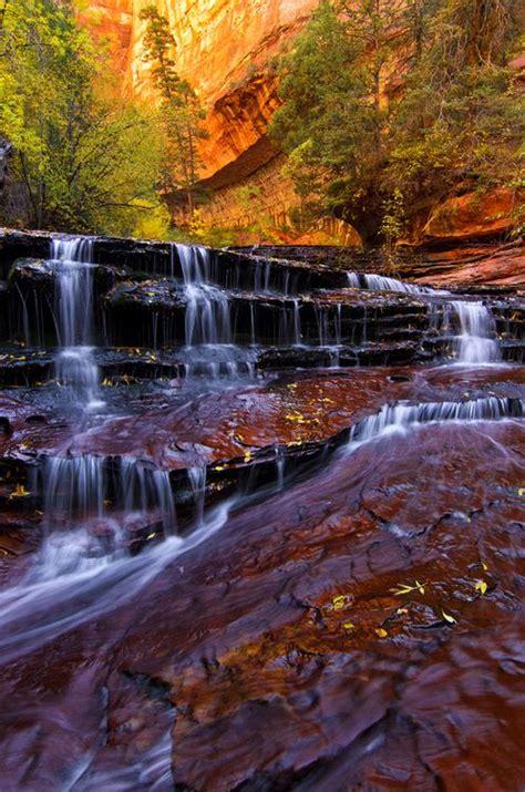 Archangel Falls Zion National Park Utah