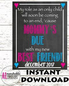 Pregnancy Announcement Photo Prop/Mommy's Due New Best ...
