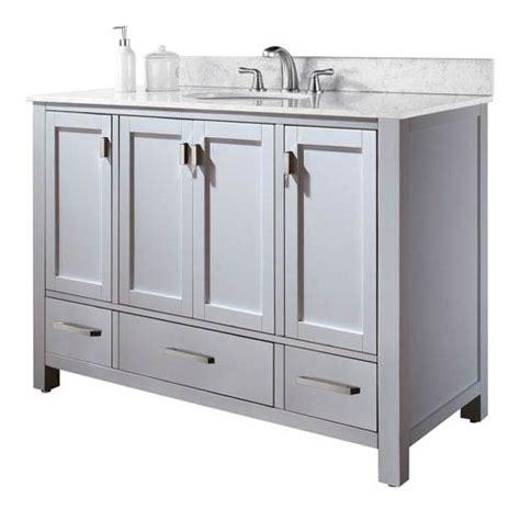 48 inch vanity cabinet only modero 48 inch vanity only in white finish avanity
