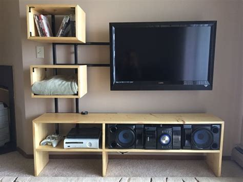 fireplace ideas with tv 33 diy tv stands you can build easily in a weekend home