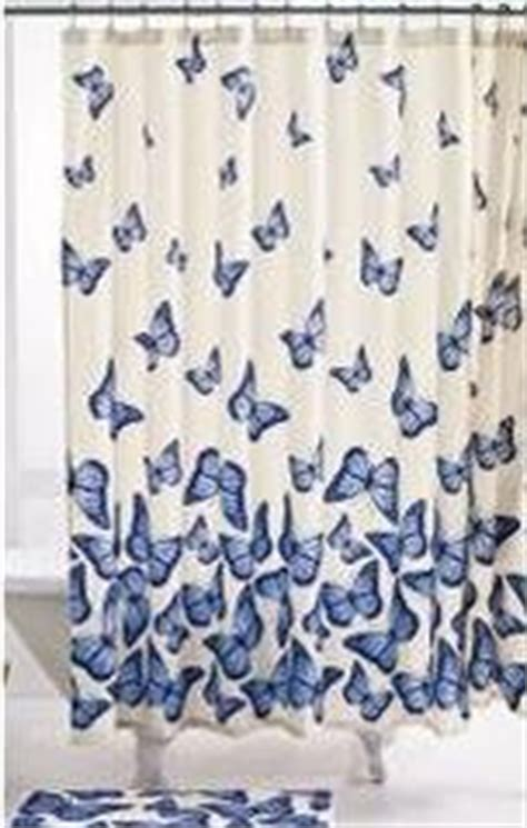 butterfly shower curtain with matching bath