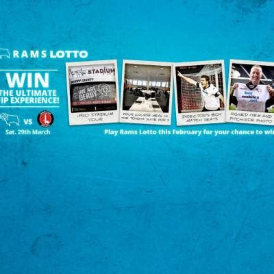 Rams Lotto VIP Prize Draw - Blog - Derby County