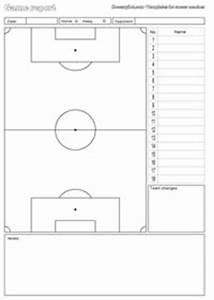 free downloads and templates for soccer coaches With soccer starting lineup template