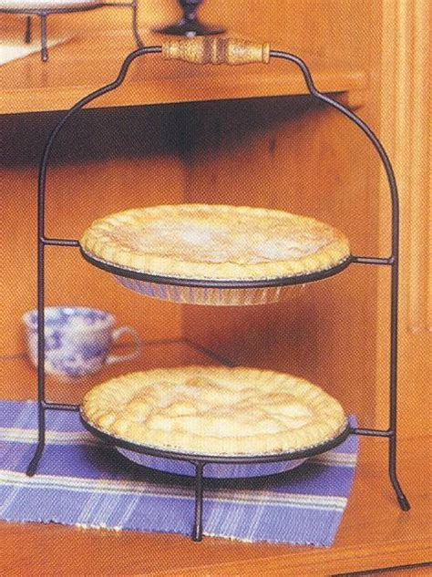 pie  plate racks double tier single handle tiered plate stands