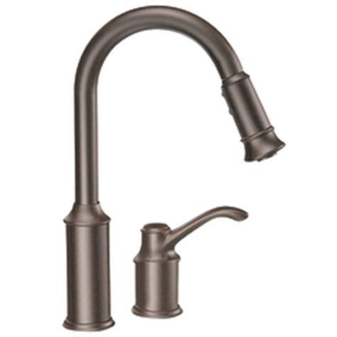 moen aberdeen faucet handle rubbed bronze kitchen faucets moen danze elkay