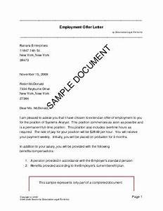 Employment offer letter germany legal templates for Sample employment contract letter