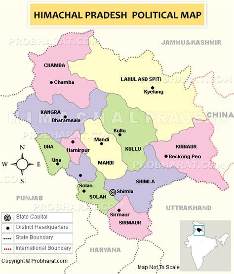 himachal pradesh mapmap  himachal districtshimachal