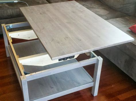 Trulstorp coffee table this coffee table allows you to lift and pull one of the table top halves towards you. Hemnes Lift-top Coffee Table - IKEA Hackers