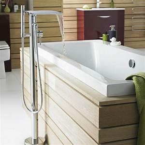 La robinetterie de baignoire pour la salle de bains for Portant douche