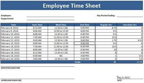 employee timesheet template weekly  monthly