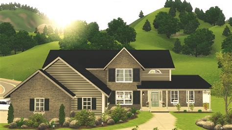 sims  tradtional family home youtube