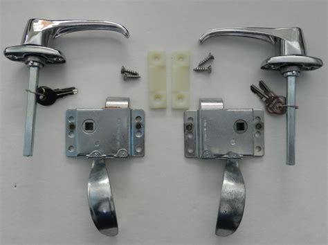 trailer door latch rv teardrop trailer front locking door handle latch kit ebay