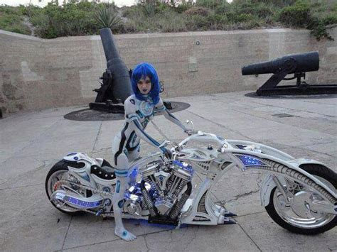 Future Girl, Futuristic, Motorcycle
