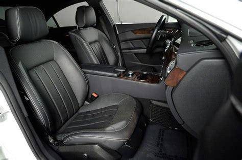 mercedes black leather mercedes cls550 white metallic black leather nav