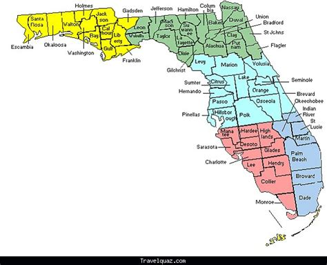 Oohub image florida state map with cities and counties bfloridab bcitiesb sciox Image collections