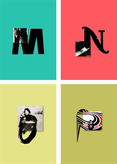 alfabeto ilustrado  partir de portadas de vinilos