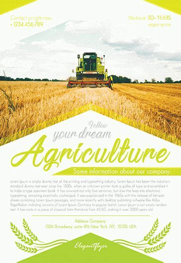 Agriculture Brochure Templates Free Free Agriculture Flyer Templates By Elegantflyer