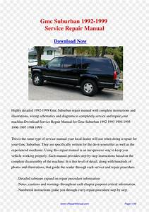 1996 Chevrolet Suburban Service Manual